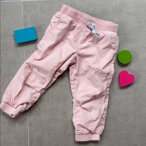 Pink joggers baby
